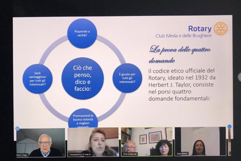 Rotary Club Meda e delle Brughiere in videoconferenza
