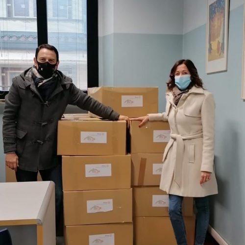 Consegna dei pacchi alimentari Rotary club Meda e delle Brughiere